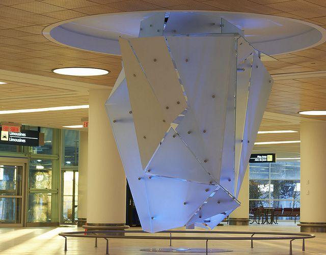 Inside Ice, Winnipeg Airport, Joel Berman Glass Studios