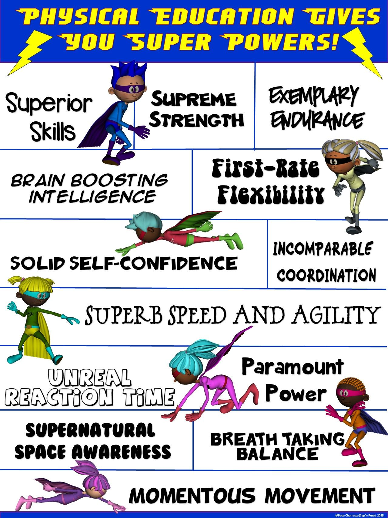 Pe Poster Physical Education Gives You Super Powers