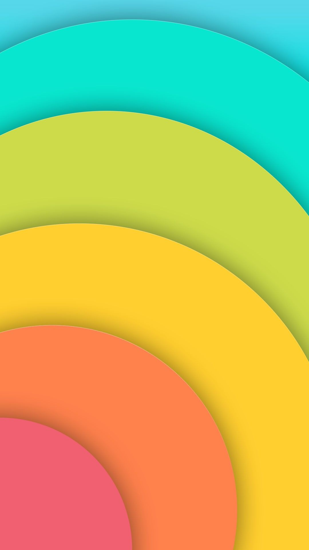 Colorful Half Circles Well | *Abstract and Geometric Wallpapers in ...