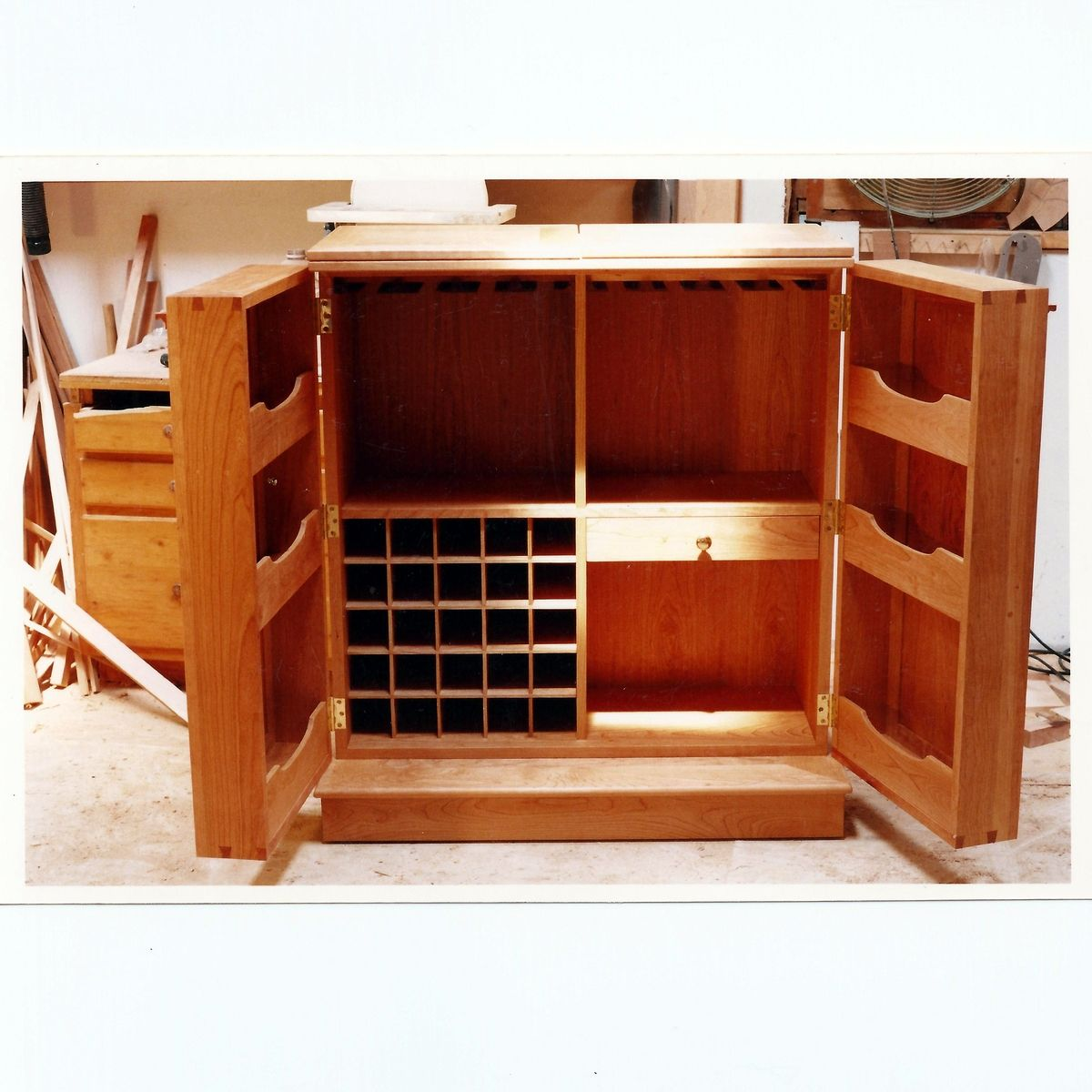 Inspiring Second Hand Cabinets 4 Dark Cherry Kitchen: Hand Made Fold Out Liquor Cabinet By Sawyer Cabinetry
