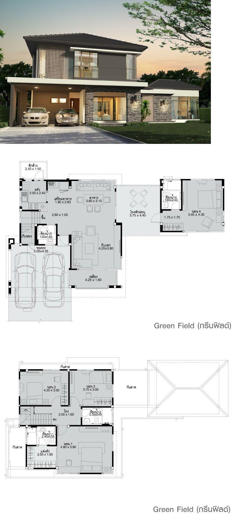 Land And Houses Arsitektur Rumah Impian Denah Lantai