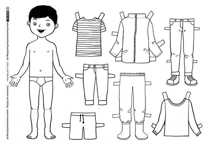 leben und wohnen kleidung anziehpuppe junge von kitzing material schule pinterest. Black Bedroom Furniture Sets. Home Design Ideas