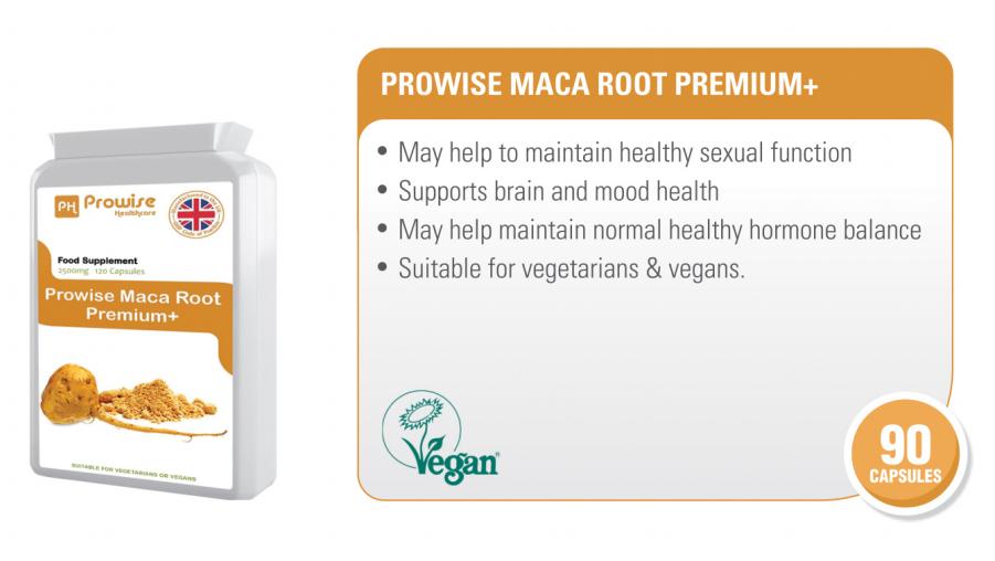 Prowise Maca Root Premium+ | Health & Food Supplements