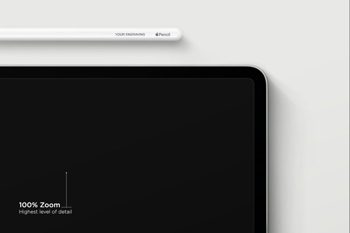 Ipad Pro 12 9 Mockup Apple Pencil Ipad App Interface Simple Business Cards
