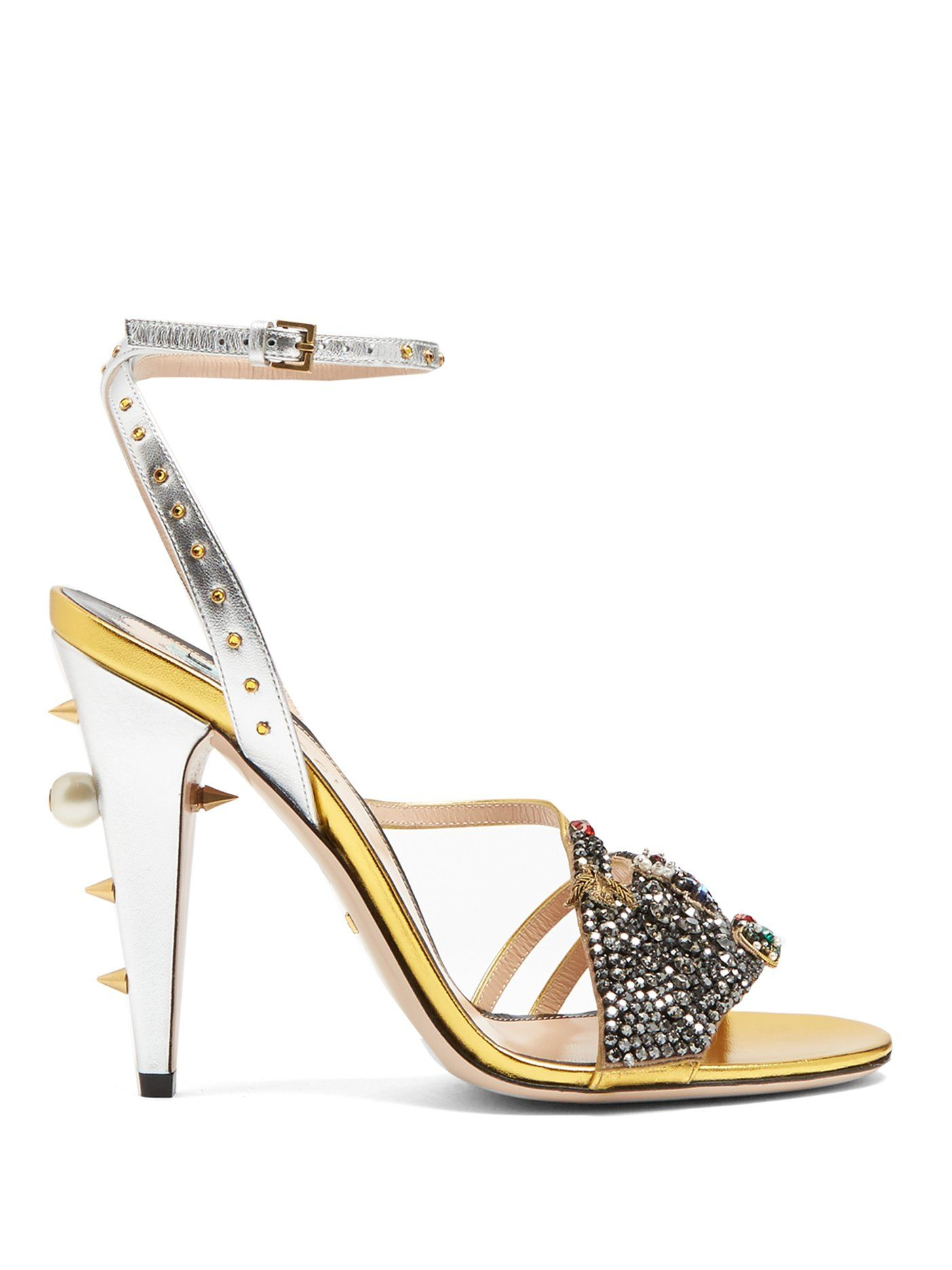 2097a73faed Click here to buy Gucci Wangy embellished leather sandals at  MATCHESFASHION.COM