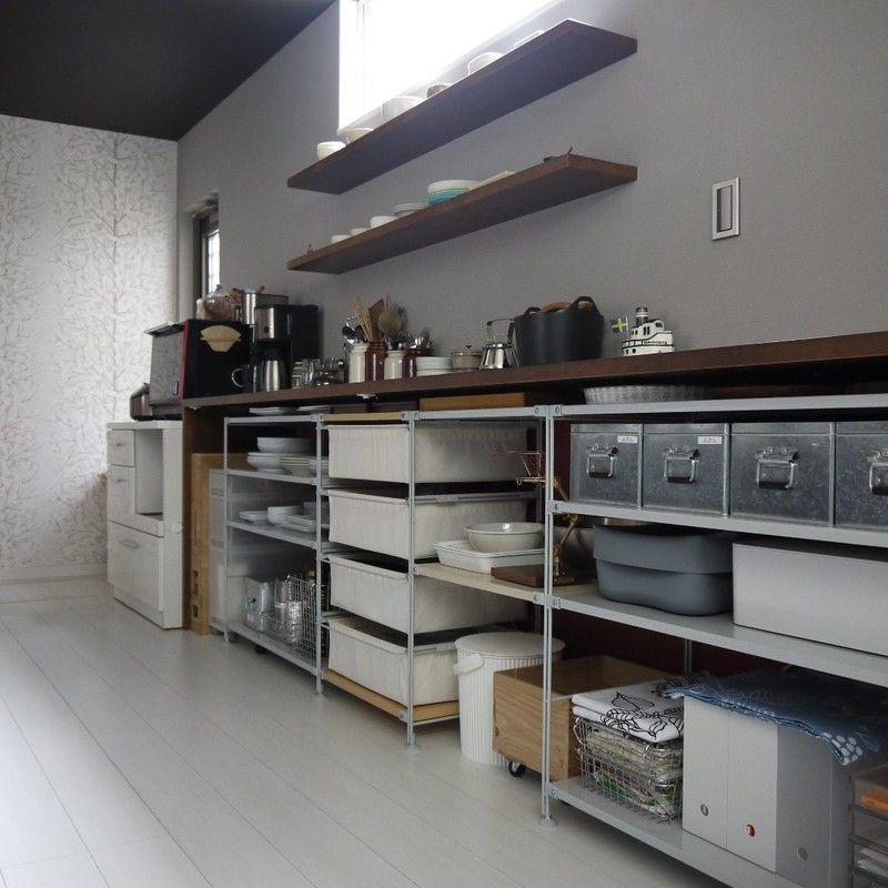 無印良品のシェルフでキッチン収納をチェンジ|limia リミア Ideas For The House Pinterest Muji Muji Style And Kitchens