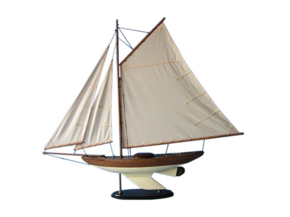 """Wooden Fine Sailing Sloop Model Decoration 40"""""""