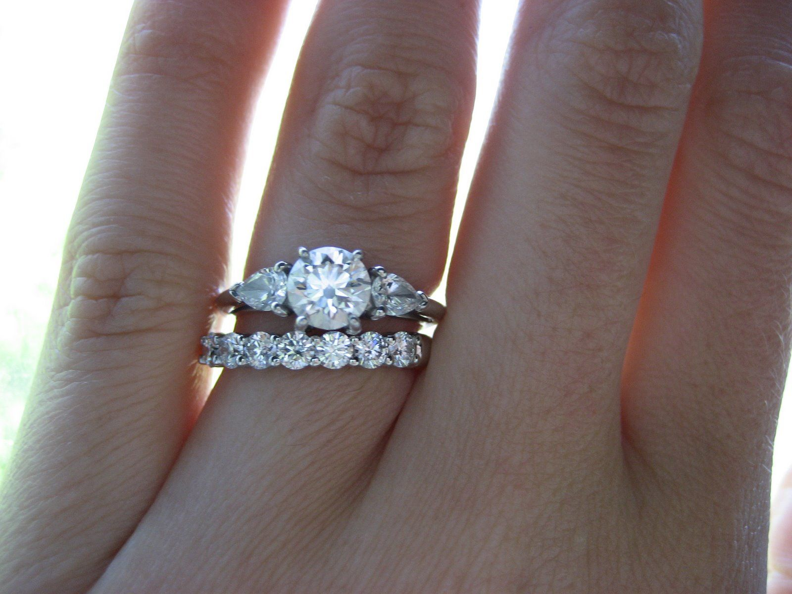engagement rings and wedding band sets - Wedding Ring And Band
