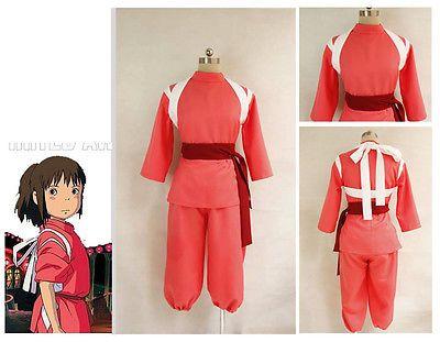 Miyazaki Hayao Spirited Away Chihiro Ogino Sen Cosplay Costume Custom Made Easy Cosplay Spirited Away Cosplay Anime Costumes