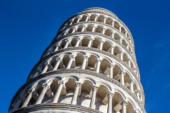 Everyone knows the Tower in Pisa leans, but it's not clear exactly why. There's one theory that it has all been done just to get you there to look at it!