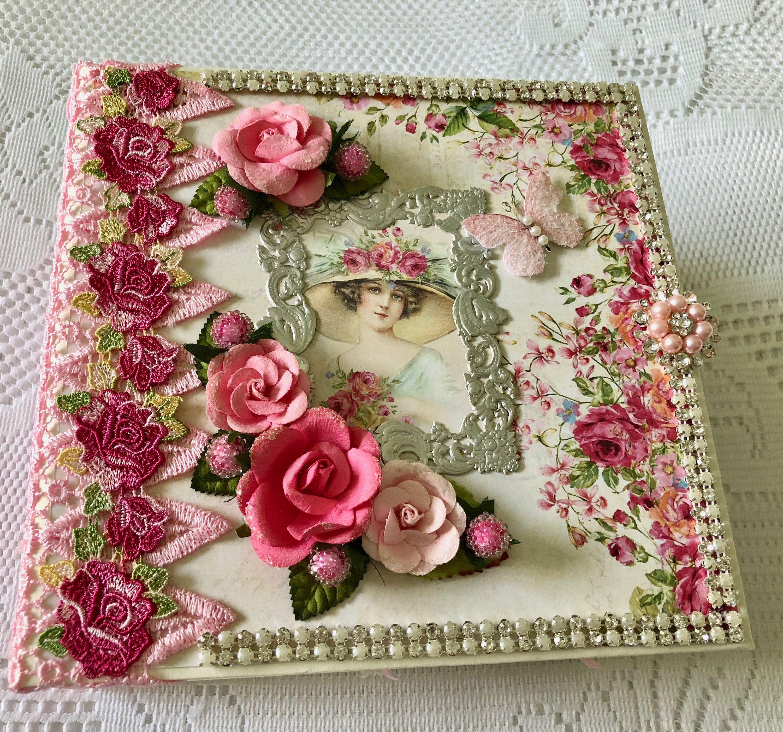 mini album handmade, Victorian scrapbook album, heirloom