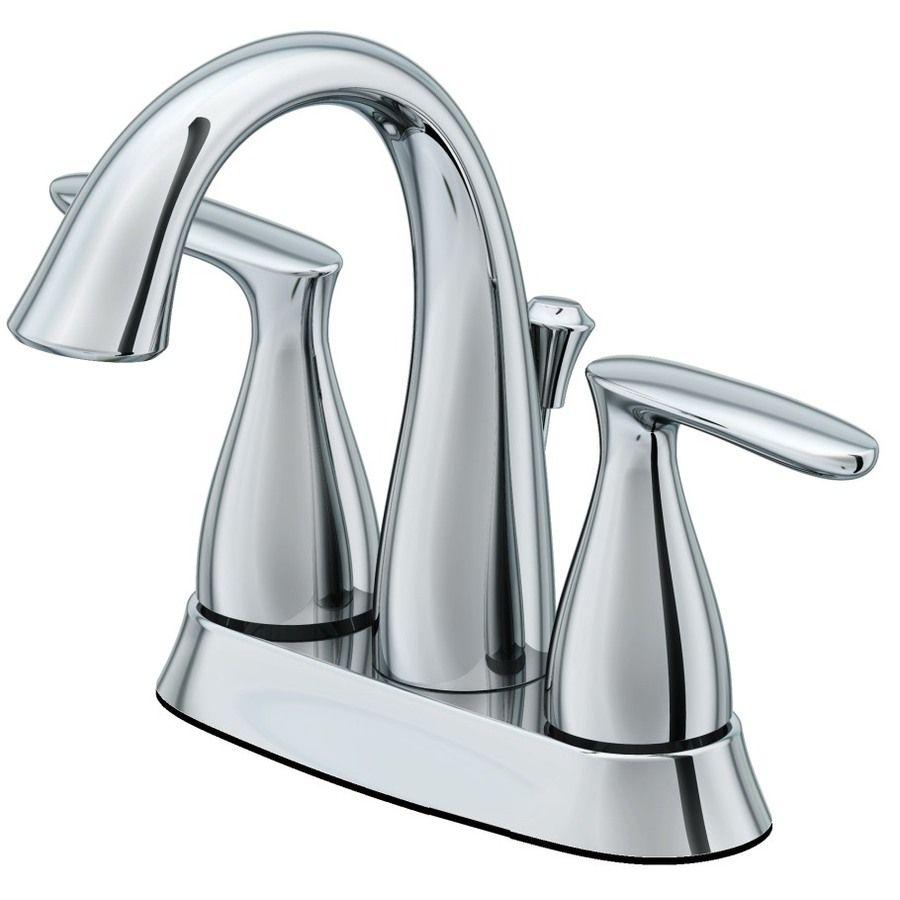 Shop AquaSource Northridge Chrome 2-Handle 4-in Centerset WaterSense ...