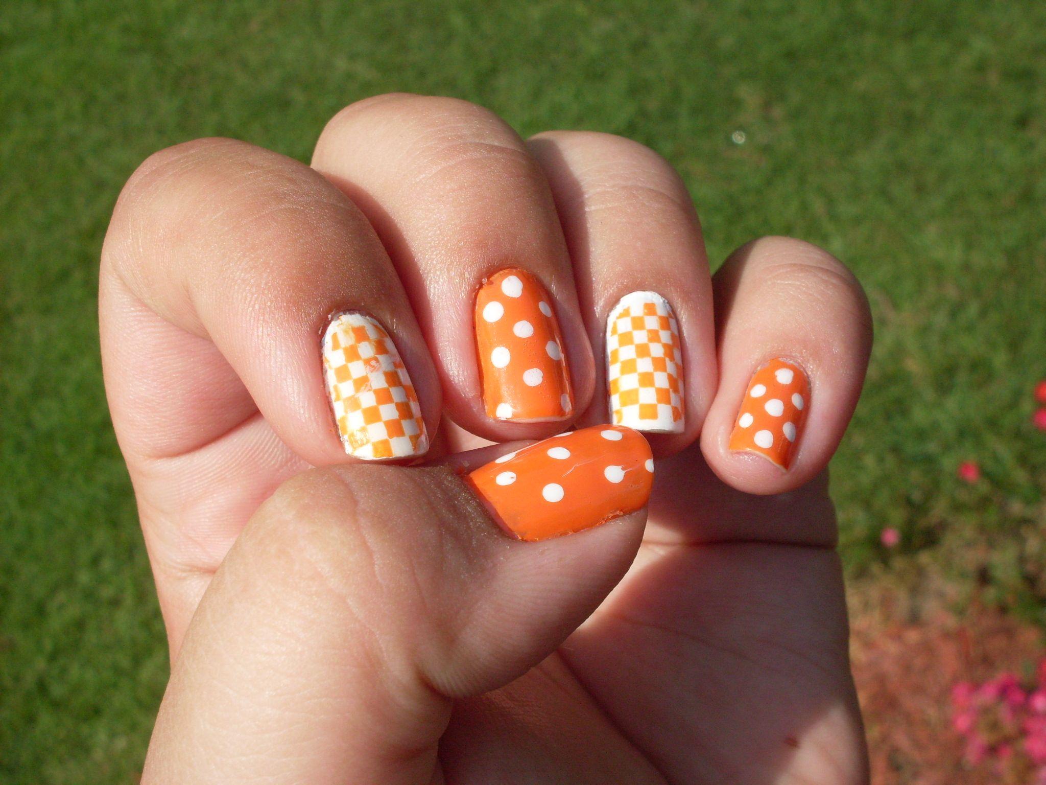 Tennessee vols nail art | Vols nail art | Pinterest | Mani pedi ...