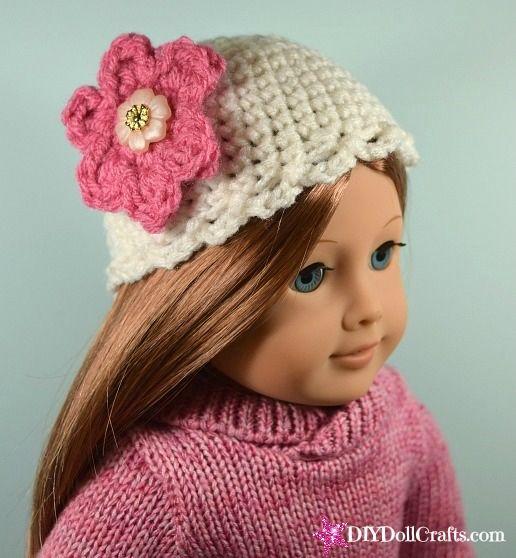 Pretty Flower Crochet Hat For 18 Inch Dolls Make It In An Hour