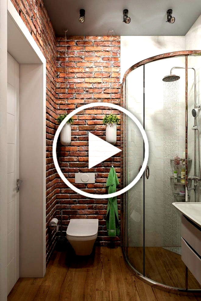 Exposed Brick Bathroom  Wall Small Chimney Toilets Subway Tiles Sinks Living Ro
