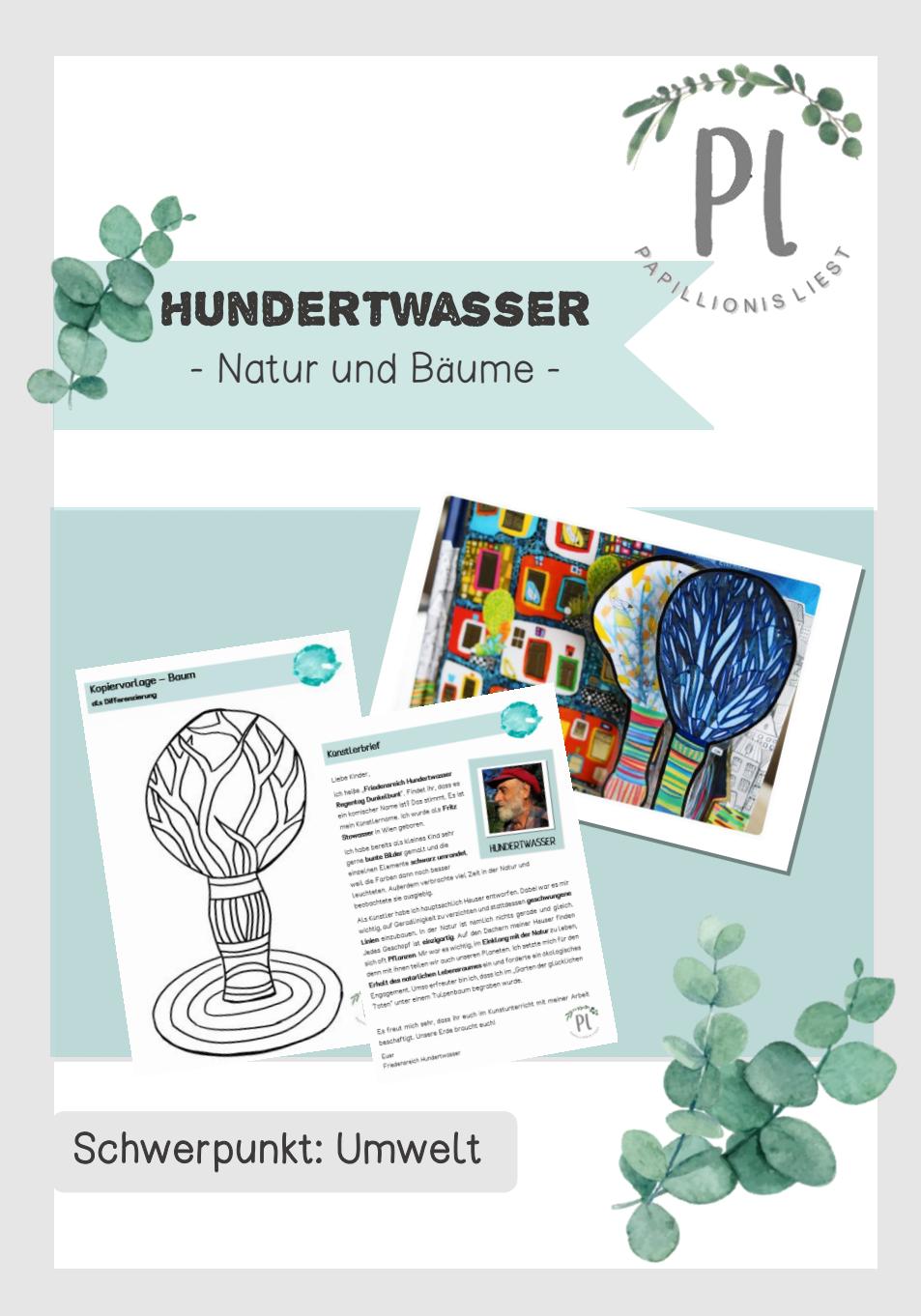 Kunstprojekt Friedensreich Hundertwasser Baume Unterrichtsmaterial Im Fach Kunst Kunstprojekte Kunst Grundschule Kunst Unterrichten