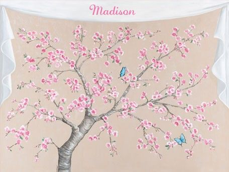 Cherry Blossoms and Butterflies, Girl Canvas Wall Art | Oopsy daisy ...