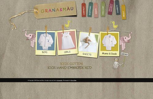 Grana and Mau is a children's clothing website providing 100 ...