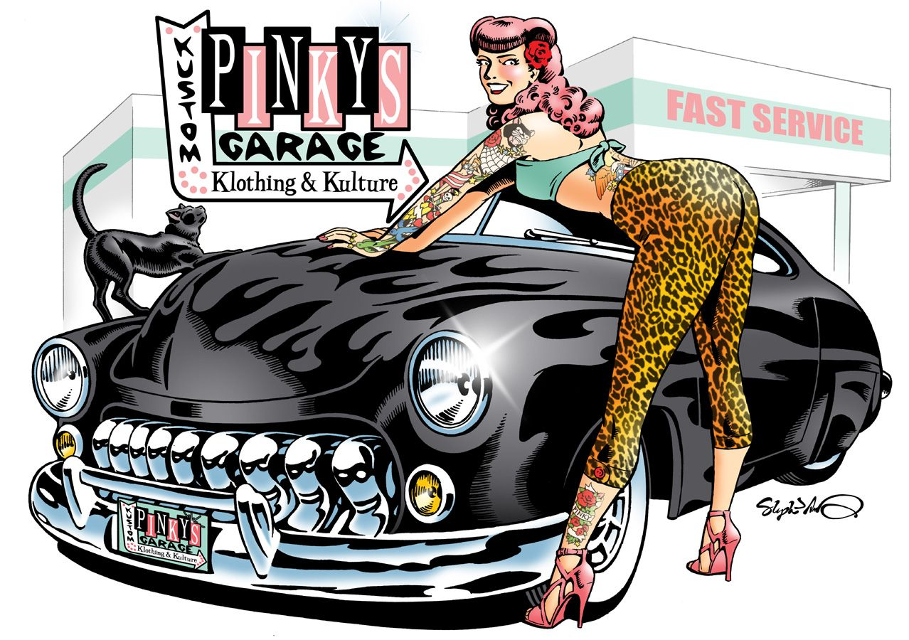 Garage Art Facebook Pinky S Garage Kustom Klothing And Kulture Opening Fall 2013
