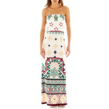5c449c382b25 Bisou Bisou® Strapless Blouson Maxi Dress found at  JCPenney ...