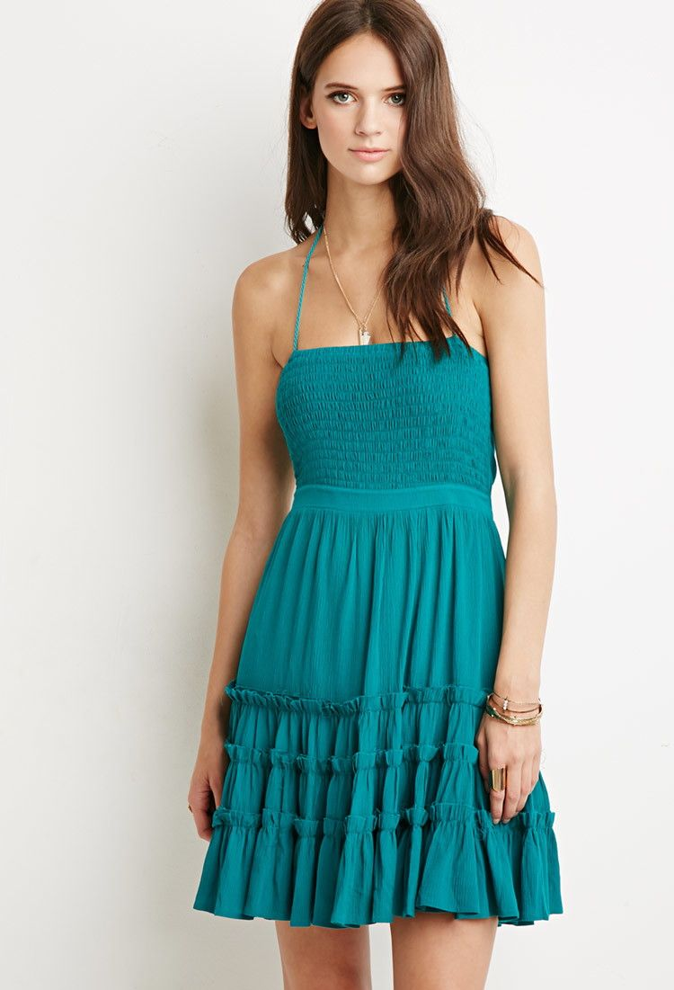 Tiered A-Line Dress | Forever 21 - 2000167206 | clothes | Pinterest ...