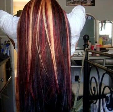 I remember once when I had highlights like this! This picture makes me want to try it again!