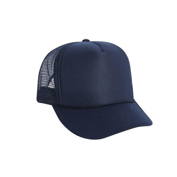 b4c0342f8f9 Wholesale Lot 11 Blank Foam Trucker Hats Navy w  Braid   Snap back  Cobra