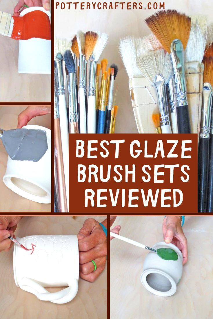 Along with the potter's essential tools, glaze brushes also play an important part in the making and designing of your pottery. We have gathered a list of the best glaze brush sets under $18. These brushes work well for glazing, underglazing, and even slip work. #pottery #glazing #ceramics #potterytools #brushes #diypottery #potterytips