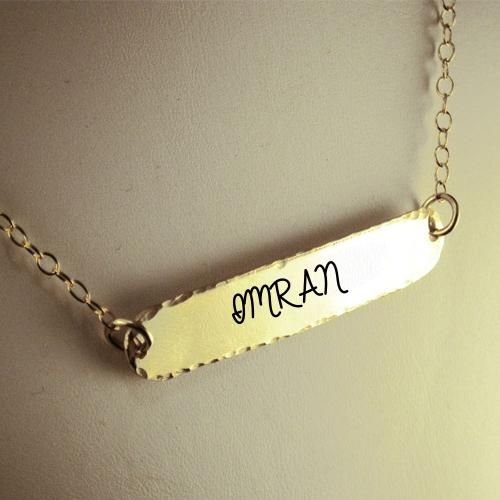 Write Name on Gold Plated Beautiful Designer Necklace designer