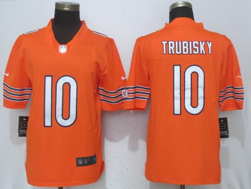 21a9ca3ff18 Men Chicago Bears 10 Trubisky Orange Vapor Untouchable Nike Limited Player NFL  Jerseys Chicago Bears