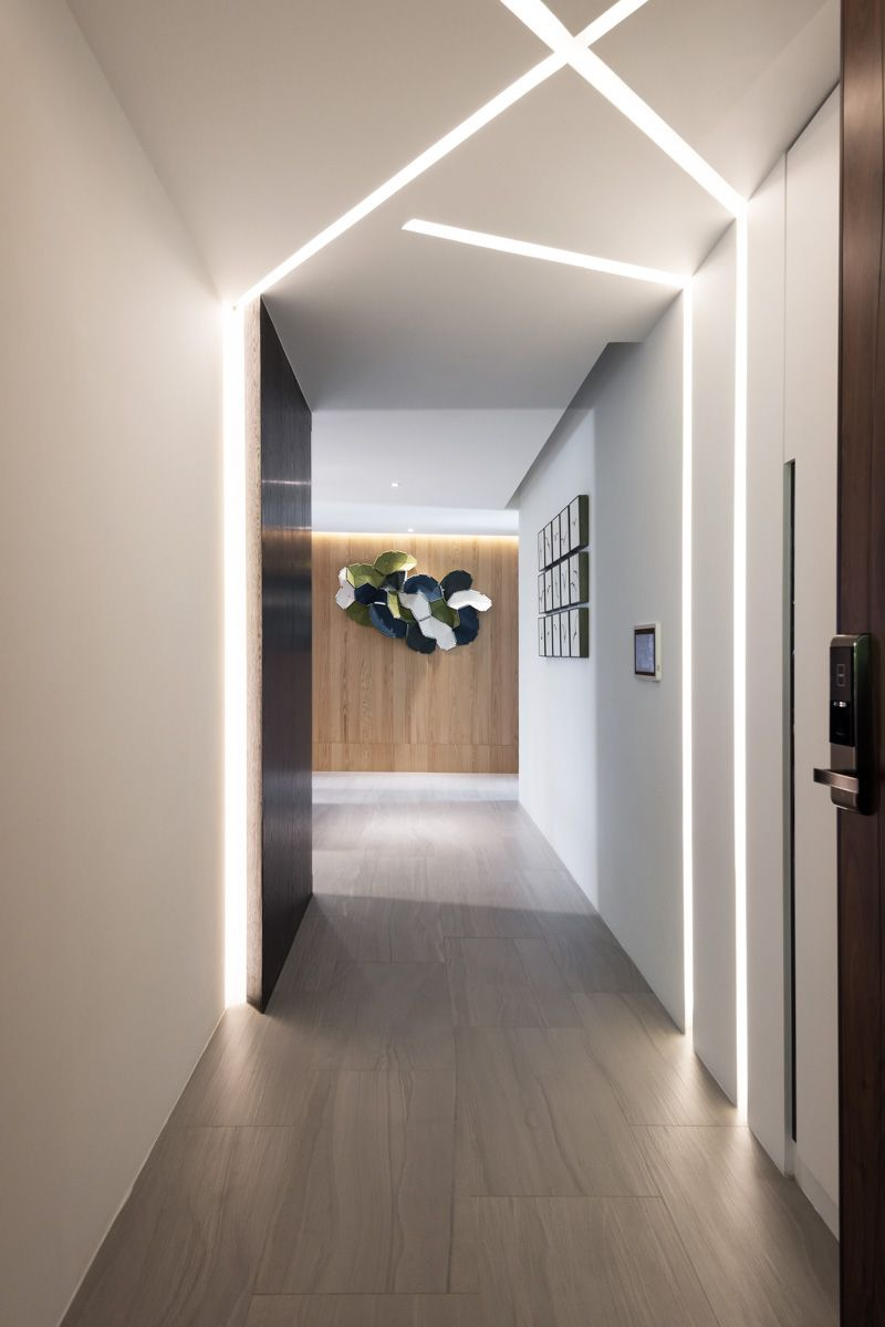 Make Your Home Beam And Glow With Built In Lighting Corridor