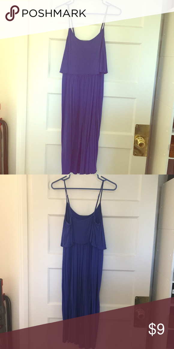 Old navy blue cotton dress Adjustable straps, flowy top, Cotton, hits below the knee. Very comfortable! In great used condition. EUC. Old Navy Dresses Midi
