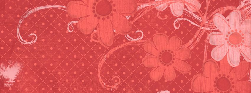 Orange Flowers Facebook Cover Preview