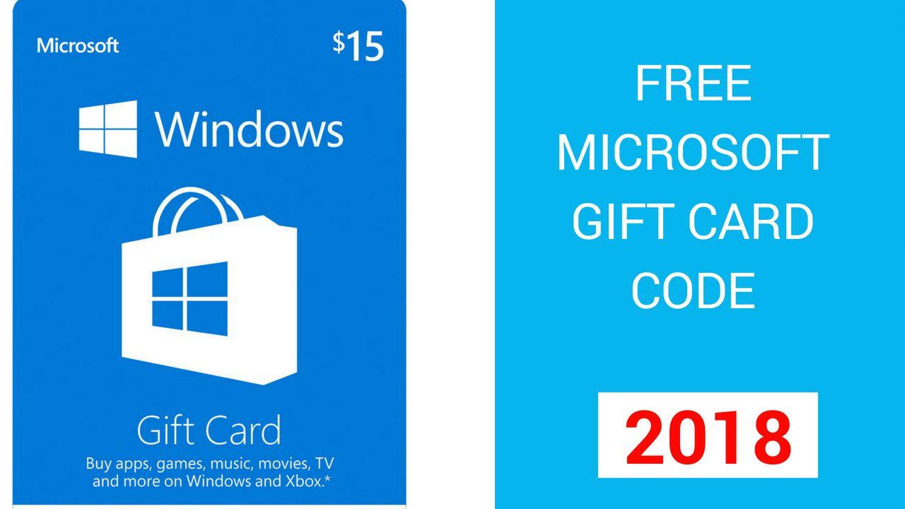 microsoft gift card code 2018 free microsoft gift card code