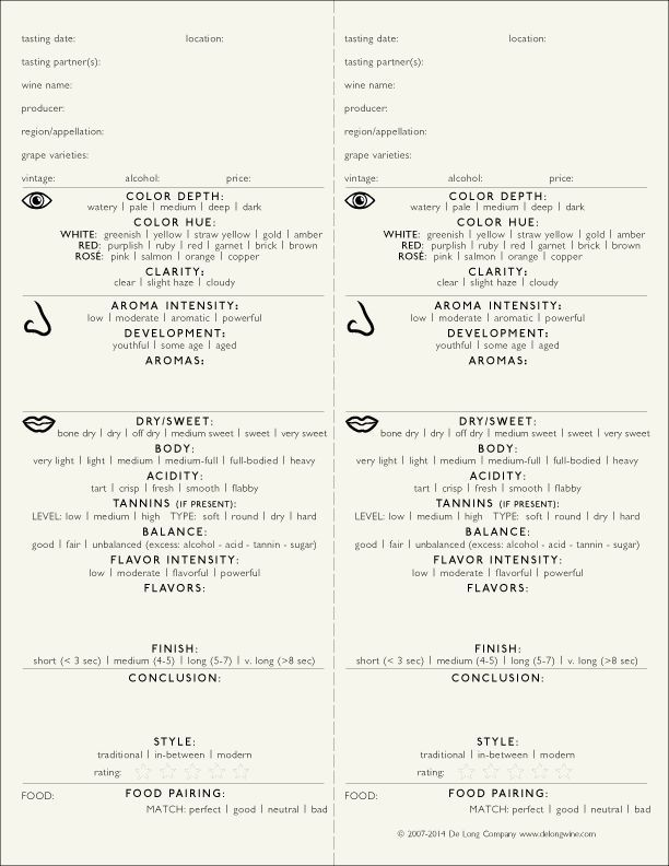 image about Wine Tasting Sheets Printable named 43 Wine Tasting Sheet Template, Printable Wine Tasting Notes