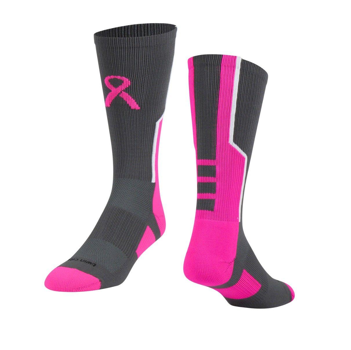 Breast Cancer Awareness Baseline Football Socks - Breast Cancer Awareness Baseline Football Socks Football Socks