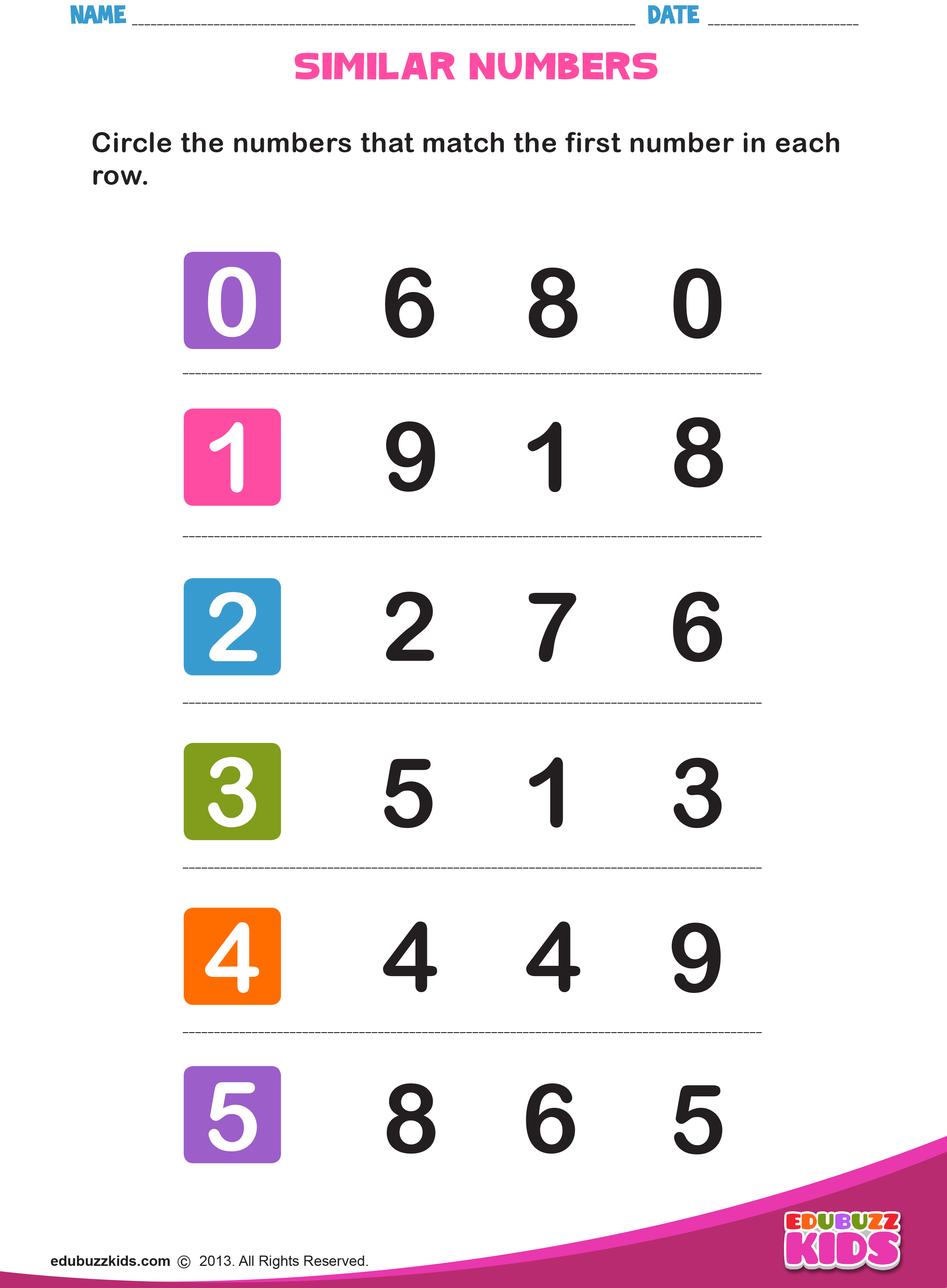Free Math Numbers That Look Similar Worksheets For Both