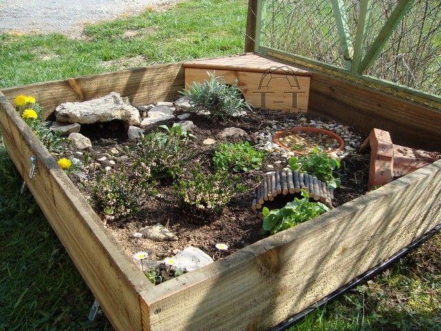 Exemples enclos pour bebes ou juveniles id es enclos for Amenagement jardin pour tortue