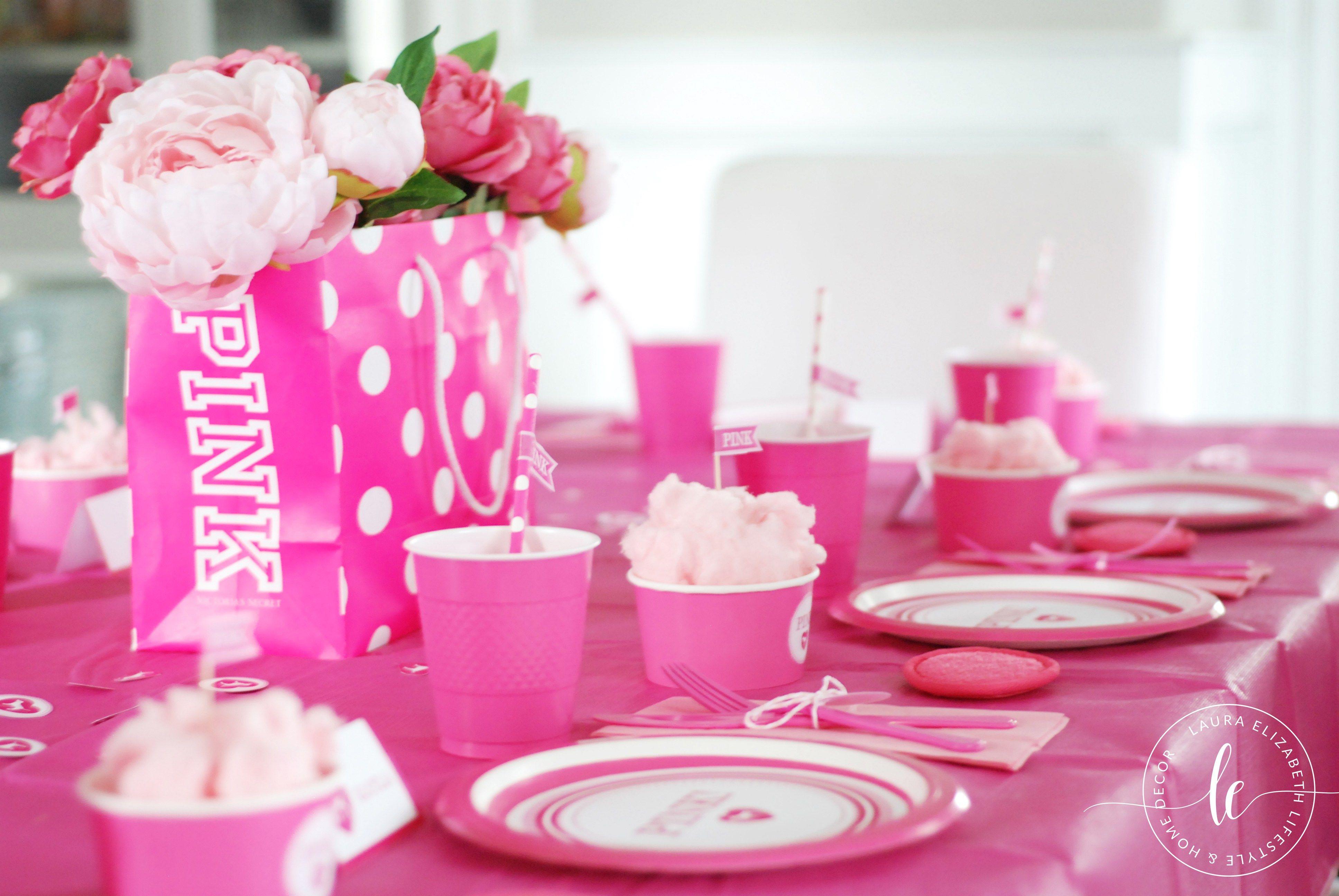 День рождения в розовом стиле фото