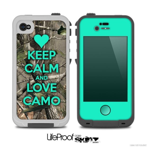 The Trendy Green V2 Keep Calm   Love Camo Real Camouflage Skin for the  iPhone 4-4s LifeProof Case 3be2c8d978