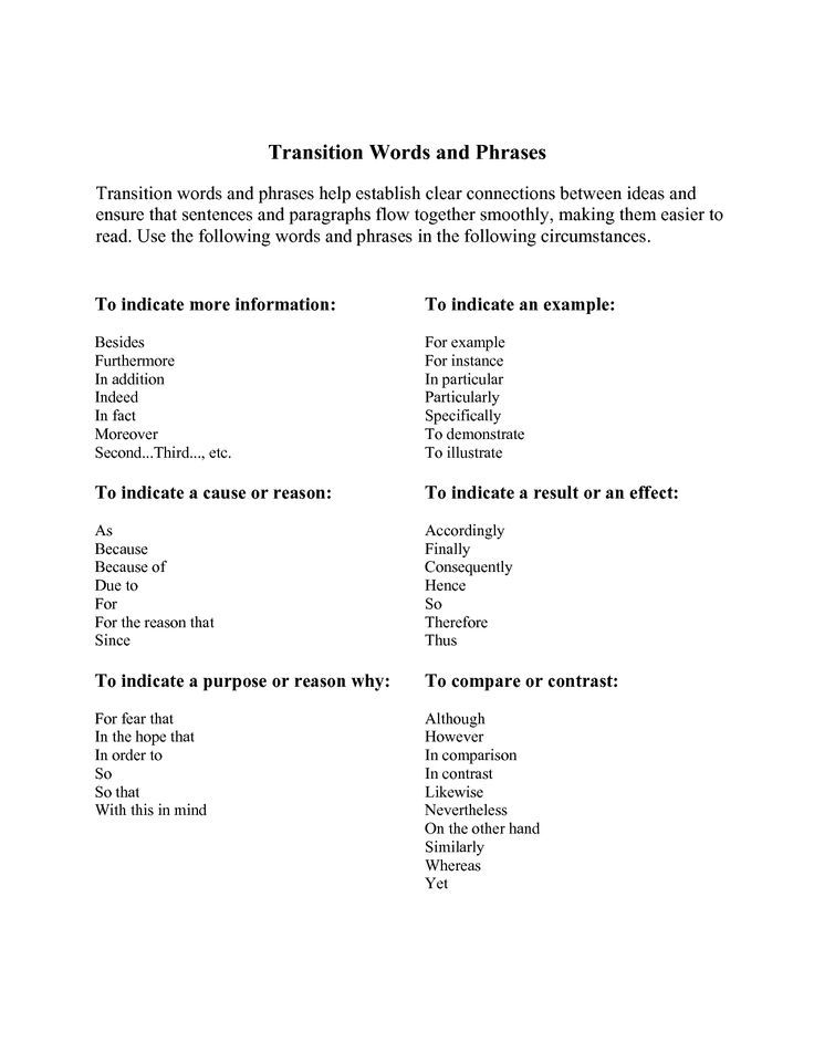 Phrases and expressions for essays