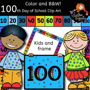 100th Day Of School Clip Art Color And B W Free 100 Days Of School Clip Art Free Clipart For Teachers