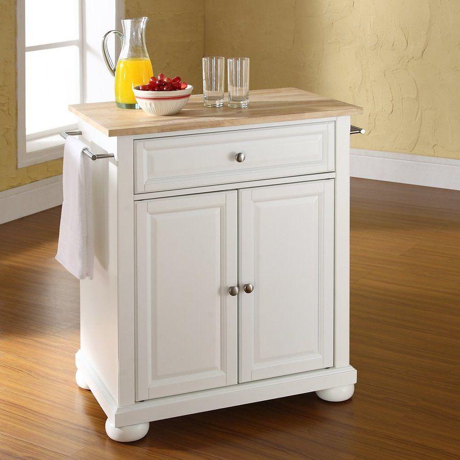 Crosley Furniture White Craftsman Kitchen Island At Lowes Com: Crosley Furniture 28.25-in L X 18-in W X 36-in H White