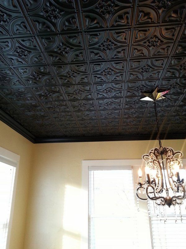 Black Decorative Tin Ceiling Tiles Chandelier Home Decorating Ideas Interesting Decorative Drop Ceiling Tiles 2X2