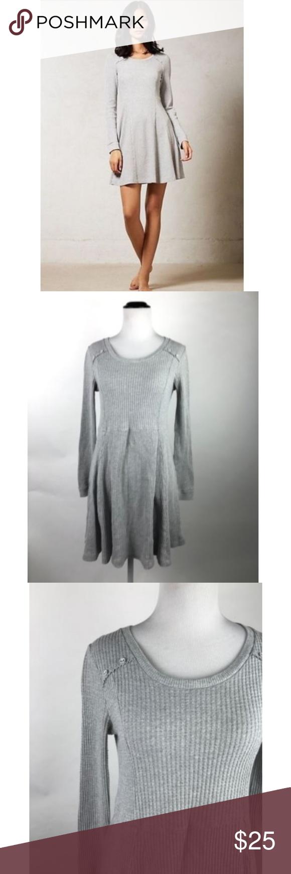 Eloise Anthropologie Gray Chiara Waffle Knit Dress Eloise Anthropologie Gray Long Sleeve Chiara Waffle Knit Tuni Clothes Design Waffle Knit Anthropologie Dress [ 1740 x 580 Pixel ]