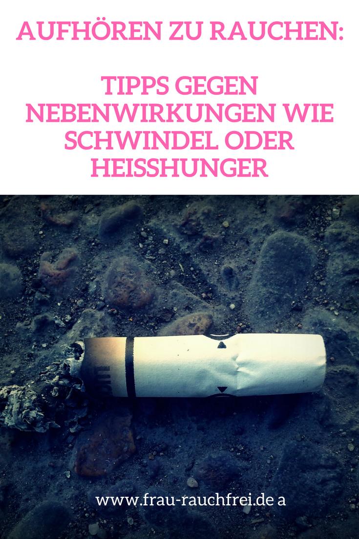 Mit dem Rauchen aufhören - die Nebenwirkungen lindern Sie so
