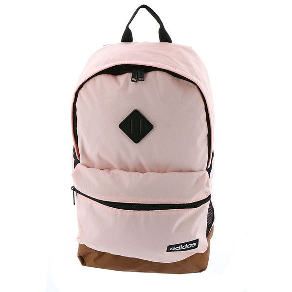 adidas Classic 3S Backpack Pink Bags No Size ( 45) ❤ liked on Polyvore  featuring 4fecdee877add
