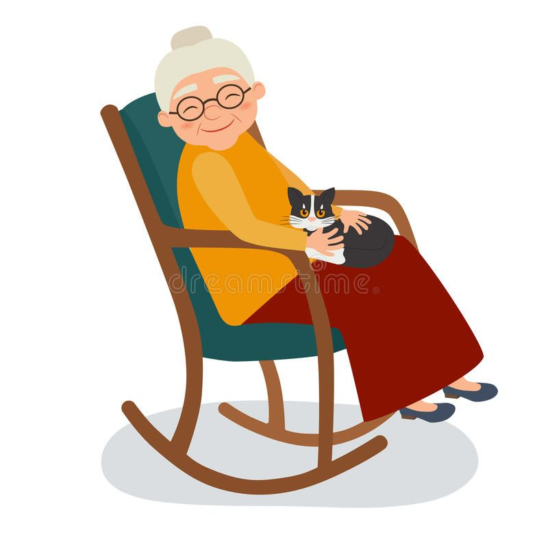 Fine Found On Bing From Dreamstime Com Cartoon Grandma Squirreltailoven Fun Painted Chair Ideas Images Squirreltailovenorg