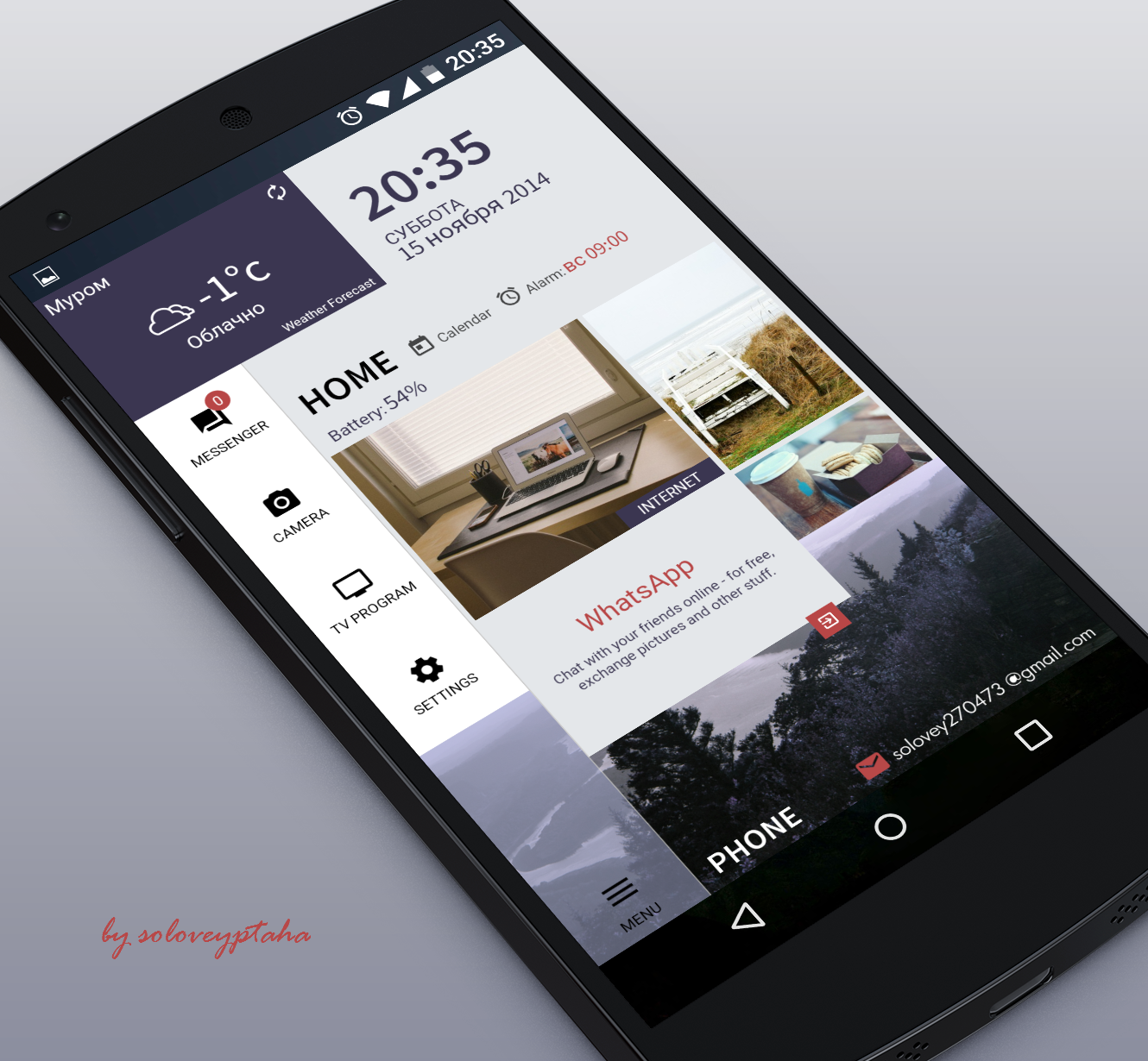 tiles Android Homescreen