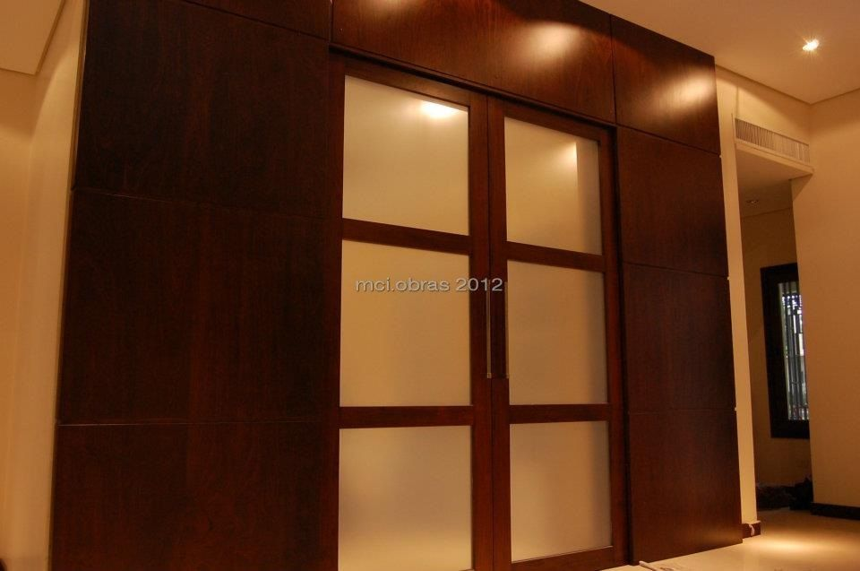 Puerta corrediza madera vidrio mci aberturas pinterest for Puertas corredizas